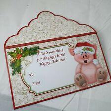 Christmas piggy bank money wallet /Gift card Envelope pocket voucher
