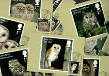 Owls 2018 - Royal Mail Franked PHQ Stamp Cards - 11.05.2018