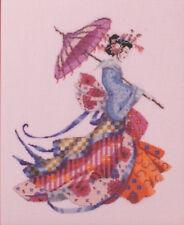 Cross Stitch Chart / Pattern ~ Mirabilia Miss Cherry Blossom #MD153