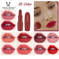 MISS ROSE Lipstick Matt Waterproof Long Lasting Lip Cosmetic Beauty Makeup NEW!