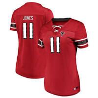 New Women's Majestic NFL Atlanta Falcons #11 Julio Jones V-Neck Jersey Shirt NWT
