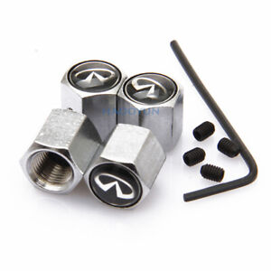 Car Anti-theft Wheel Dust Covers Tire Valve Stems Caps Decoration For Infiniti
