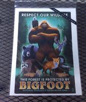 NEW Bigfoot Print - Respect our Wildlife - Printed in USA 9x12 - Lantern Press
