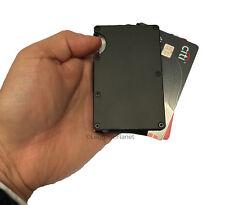 Mens Minimalist Aluminum RFID Money Clip Credit Card Case Wallet - Black