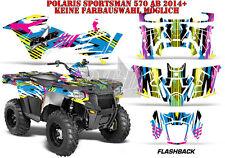 Amr racing decoración Graphic kit ATV Polaris sportsman modelos flashback B