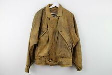 Mens Brown Real Leather Jacket size S Stock No.Y516 29/1