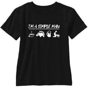 I'm A Simple Man T Shirt SXS RZR Maverick Wildcat Polaris Can Am UTV Ranger