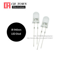 100pcs 5mm Ir Led Diodes Water Clear Infrared 940nm Blub Transparent Lamp Usa