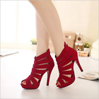 Summer Women High Heels Pump Ankle Strap Stilettos Sandals ladies Open Toe Shoes