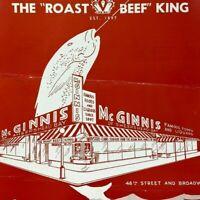 Vintage 1945 McGinnis Shepard Bay Restaurant Menu Times Square Broadway NYC