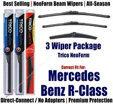 3pk Wipers NeoForm 2006-13 Mercedes-Benz R63 AMG R320 R350 R500 162813/2113/12J
