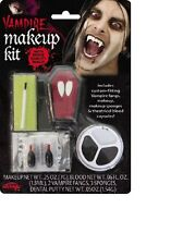 Vampire Dracula Theatrical Makeup Kit Fangs Set Costume Make Up Accessory NEW
