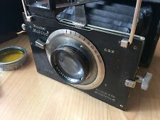 Vintage German Folding Camera Plaubel Makina with 10 cm  f2.9 Anticomar #71180