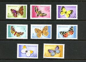 H725  Romania 1969    butterflies  8v.   MNH