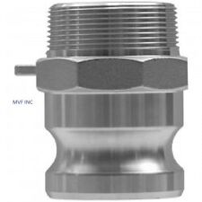 """1.5"""" Type F Camlock Male Adapter x Male NPT 304 Stainless  Fitting <F150SS304"""