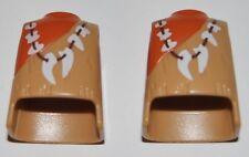 13640 Cuerpo cavernícola collar colmillo 2u playmobil,body,corpo,ボディ,caveman