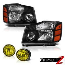 For 2004-2015 Titan XE Black Headlights Assembly Tail Light Yellow Bumper Fog