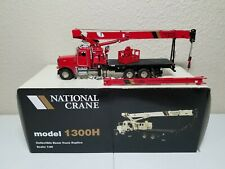 Peterbilt 357 National 1300H Boom Truck - Red - TWH 1:50 Model #048-01037 New!