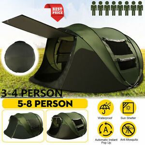 5-8 Person Automatic Pops Up Family Outdoor Camping Tent
