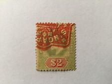 1906 Malaya Straits Settlements KEVII Watermark Multiple Crown CA $2