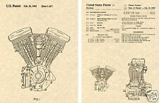 US PATENT Harley Davidson EVOLUTION ENGINE Art Print READY TO FRAME!!!!! HD EVO