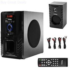 Bluetooth 5.1 CH Surround Sound Wireless Home Theater Speaker System HQ Bass NEW