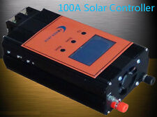 "2400W Smart Solar Controller,DC 12V / 24V,100AMP,3.5""LCD,For 18V-54V Solar Panel"