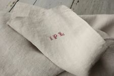 Antique French PURE linen IPL monohand kitchen towel 18th / 19th old bath lovely