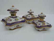 Nécessaire de toilette boite porcelaine sèvres signé céramique porcelain ceramic