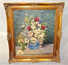 "Ölgemälde - ""Blumen & Vase"" / antiker Barockrahmen"