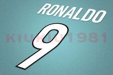 Inter Milan Ronaldo #9 1998-1999 Homekit Nameset Printing