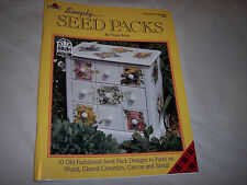 "Plaid Simply ""Seed Packs"" ,10 Designs, Decorative Painting Instruction,Arts"