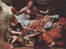 Hemessen Jan Sanders Van Isaac Blessing Jacob A4 Print