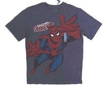 Old Navy Marvel The Amazing Spider-Man Boy's  Grey Graphic T-Shirt Size L 10-12