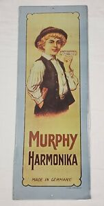 Murphy Harmonika Music Harmonica Advertising Sign 1974 Sanford Heilner USA VTG