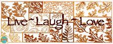 Cross Stitch Kit ~ Design Works Live, Laugh, Love Rustic Autumn Leaves #DW2472