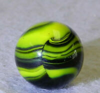 #10135m Vintage Christensen Agate Company CAC Electric Striped Opaque Marble