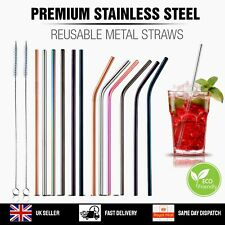 Metal Straws Reusable Mix Color Stainless Steel Drinks Straws Party Eco-Friendly