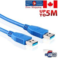 SuperSpeed 5Gbps USB 3.0 Type A Male to Male Cable Cord for Data Transfer/Sync