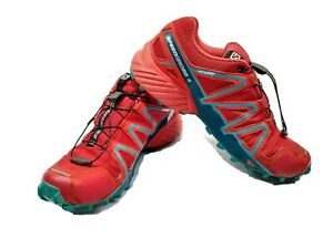 Mens Salomon Speedcross 4 Shoes - Size 9.5 - Running, Hiking - Red - Ortholite