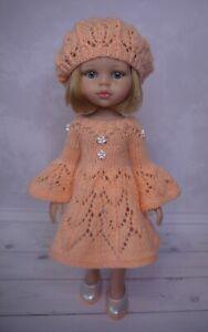 Dress, Beret, Shoes for doll Paola Reina Little Darling 32-34 cm handmade