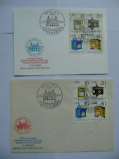 DDR 2 Ganzsachen Sozphilex Postgeschichte 1985 VB Historische Briefkästen SST