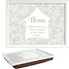 Said With Sentiment 7554 White Lap Tray Home