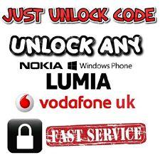 Nokia Lumia 638 635 630 625 620 610 640 650 Vodafone UK Unlock Code