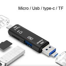 3in1 Micro SD USB TF OTG to USB 2.0 Adapter Card Reader For Android IOS Tablet