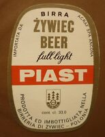 OLD POLISH BEER LABEL, BROWAR ZYWIEC POLAND, PIAST LIGHT 1