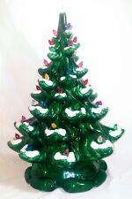 *Ceramic*Christmas Tree*Vintage*Atlantic Mold*Flocked*ALL Bulbs*FABULOUS*RaRe!!*