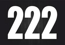 3x Pegatina sticker adesivi adhesivo tunning vinilo numero numeros moto auto 2