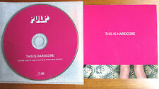 PULP - This Is Hardcore  CD -Album PROMO Cardboard Sleeve