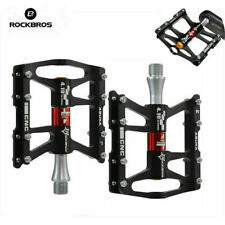 ROCKBROS Road Mountain Bike Platform Pedals Flat Aluminum Sealed Bearing 9/16''